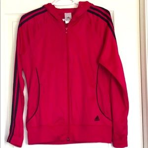 Adidas light jacket- hot pink